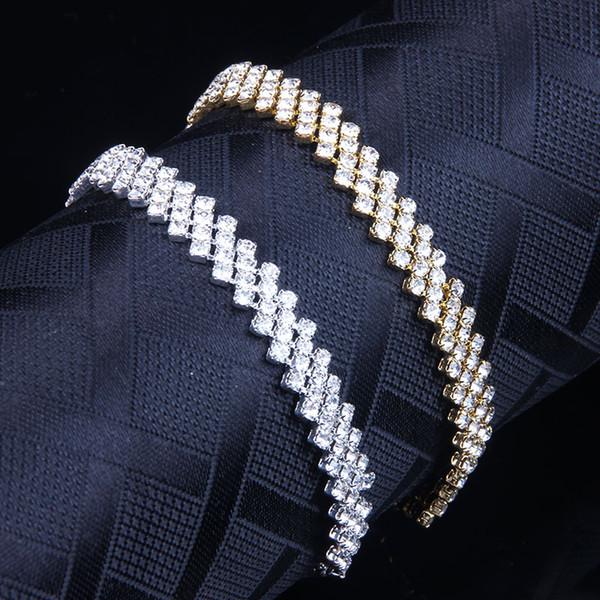 2019 New Fashion Crystal Rhinestone Stretch Bracelet Claw Chain Bangle Wedding Bridal Wristband for Bridesmaid 12PCS
