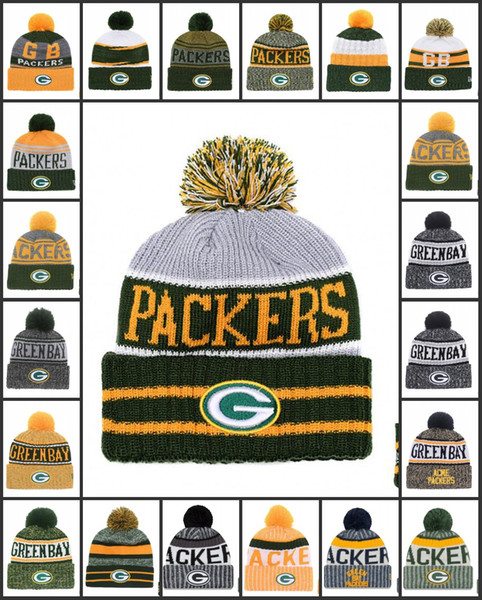Wholesale Green Bay Sport Winter Hats Packers Stitched Team Logo Brand Warm Men Women Hot Sale Knitted Caps Cheap Mixed Beanies