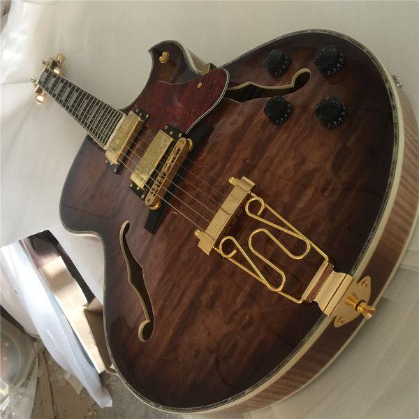 Spedizione gratuita igh end Spessore Semi Hollow body Falcon Grestch chitarra elettrica Guitarra tutto colore Accetta Spedizione gratuita Filtertron Pickup