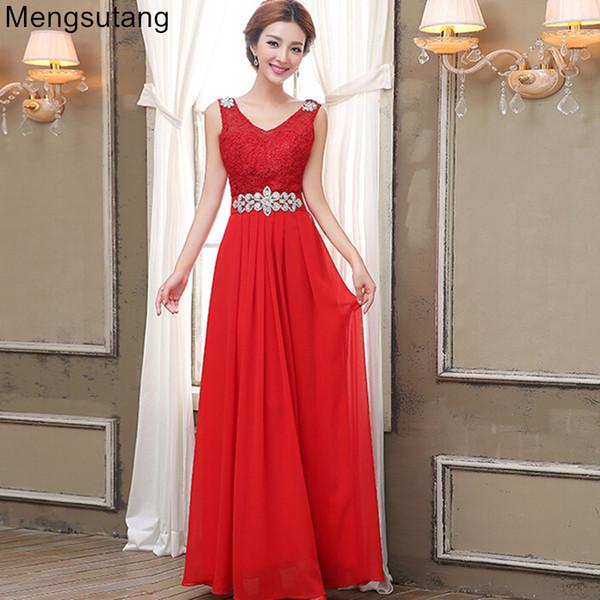 Robe de soiree 2019 Nuovo arrivo scollo a V stile estivo moda abito formale lungo design elegante abito da sera vestido de festa