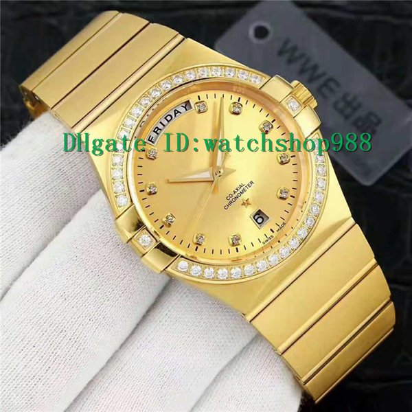 New Classic style Mens watches Swiss 8285 Automatic Movement 28800 vph Dual calendar display 18K Gold Case Sapphire Crystal Water Resistant