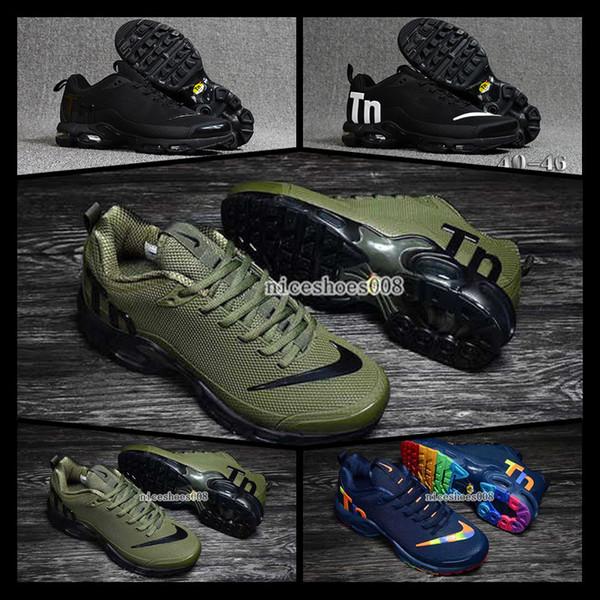 [Con reloj deportivo] Designer shoes men women Nike AIR MAX Zapatillas de deporte originales para mujer Mercurial Tn Plus Chaussures Femme Zapatillas de cuero Mujer   deporte