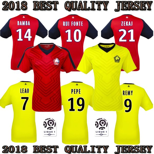 promo code fd270 09a24 Top 2018 2019 Lille Losc Soccer Jerseys Home Away 18 19 FC Lille Jersey  PEPE #19 REMY #9 BAMBA R.LEAO Football Shirt UK 2019 From Fengbao1, UK  $$14.57 ...