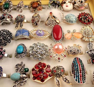2019 bella gemma anello anelli di fidanzamento Anello in lega di diamanti anello opale gioielli esagerati