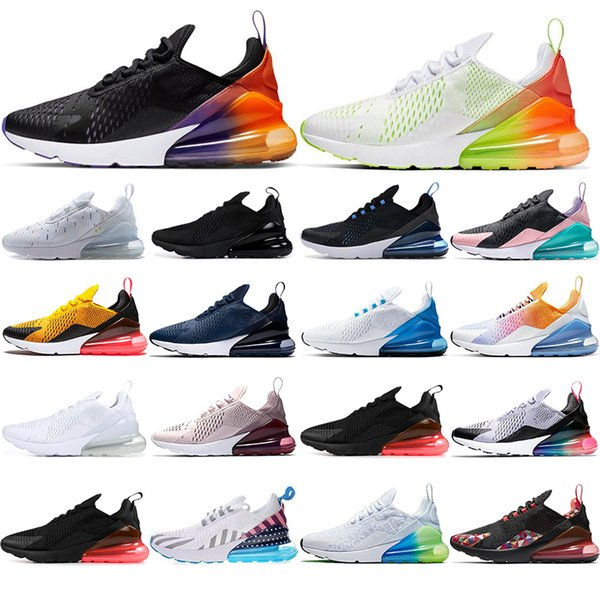 best selling 2019 breathable Mens Women Running Shoes Rainbow Volt Orange stars BE TRUE Black Gradient Navy Blue mens trainers Sneakers 36-45