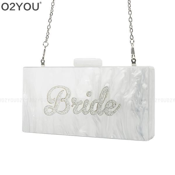 Famous Brand Design Lady Women Acrylic Wallet Handbag Female Acrylic Day Clutch Bag Card Holder Phone Pocket Wallet Bride Purse J190613