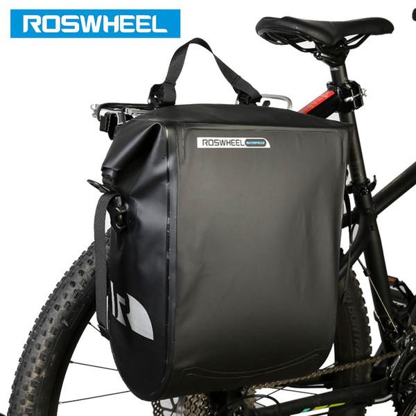 La prova ROSWHEEL acqua della bicicletta Carrier Bag 20L posteriore Rack Tronco Bike Deposito sede Pannier di riciclaggio esterno Saddle bagagli 141364