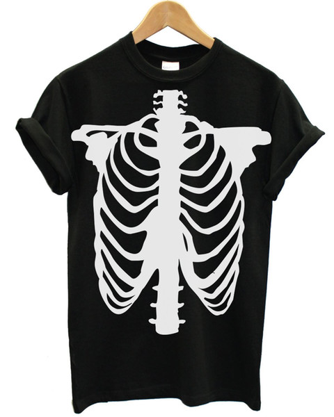!CLEARANCE SALE! Skeleton Body T Shirt Halloween Spooky Fancy Dress Cheap CEM2 100% Cotton Short Sleeve comfortable fabric Tee Basic