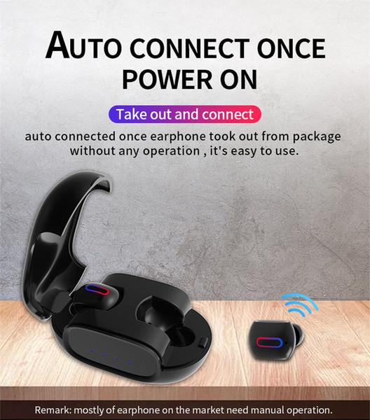 Auricolari wireless G2 Auricolari Bluetooth con TWS Bluetooth 5.0 con custodia di ricarica Mini cuffie Bluetooth per auto Samsung samsung xiaomi