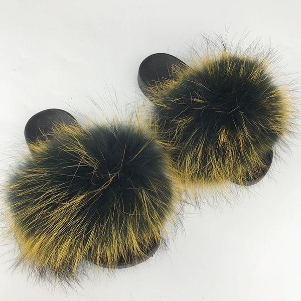 Raton laveur slippers_12 fourrure