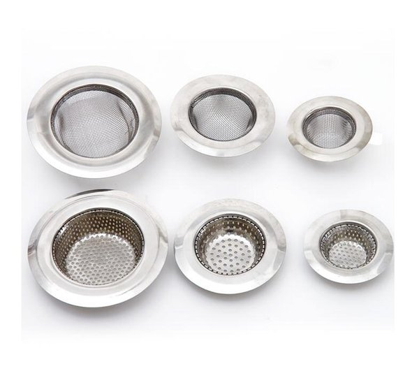 Mesh Sink Strainer Stainless Steel Kitchen Mesh Strainer Plug For Bathroom Shower Sink Drain Hole Filter Hair Catcher Stopper Cleaning Tool