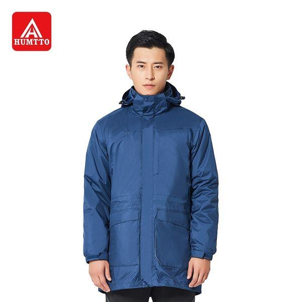 HUMTTO Hiking Jacket Men Winter Plus Velvet Thick Waterproof Detachable Three-in-one Outdoor Climbing Sport Coats