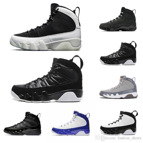 release 2010 basketball shoes 9s for men City of Flight OG space jam Anthracite bred cool grey PE sports sneaker 23 shoe