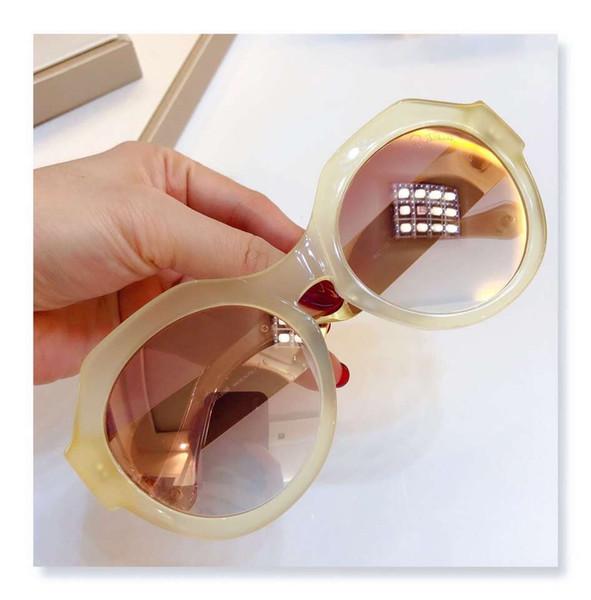 montelupo RC 1100 Beige/Light Brown Round Sunglasses Women Designer sunglasses eyewear Shades Top Quality New With Box