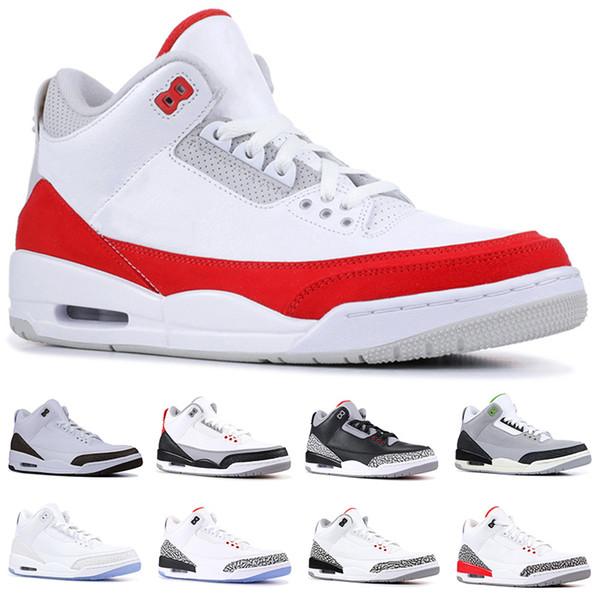 Nike Air Jordan 3 Retro Erkekler Tasarımcı Basketbol Ayakkabı Tinker Mocha Katrina JTH NRG Ücretsiz Atma Hattı Siyah Çimento Kore Saf Beyaz Trainer Spor Sneaker Boyutu 41-47