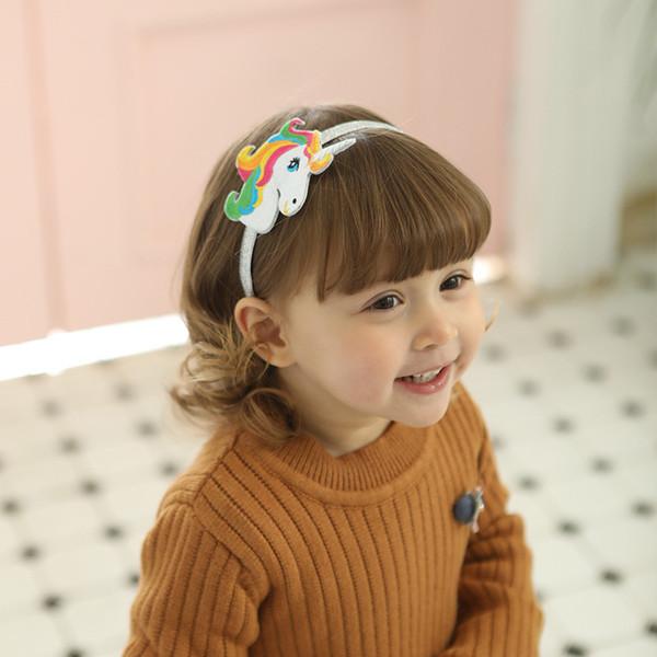 80210 Primavera e Verão Novas Crianças Gancho de Cabelo INS Hot Baby Unicórnio Cocar Crossborder Unicórnio Hairpin