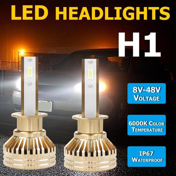 1 par de bombillas LED para coche 9005 9006 H1 H4 H7 H11 6000K faro automático