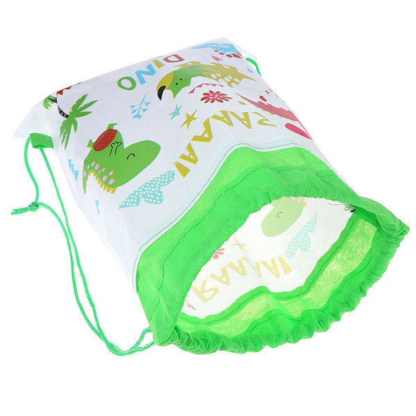 Cartoon Dinosaur Storage Bags Kids Storage Bag Drawstring Backpack Baby Clothes Clothings Laundry Bag Children Organizer Pouch