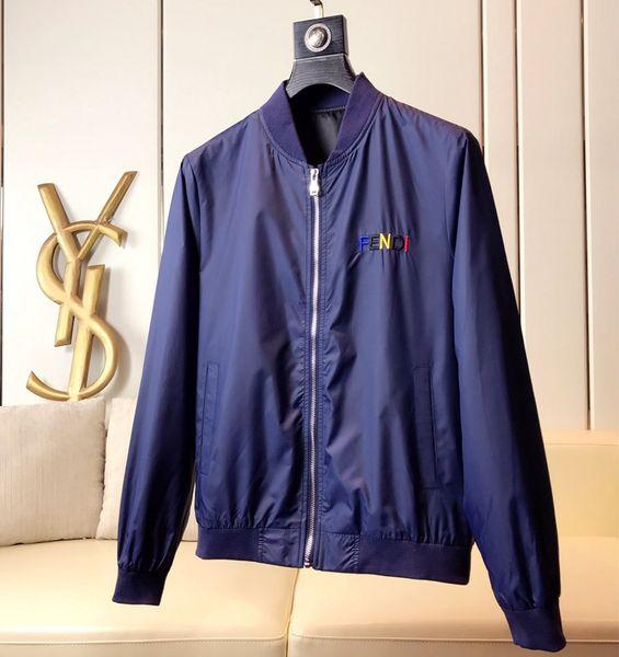 Fashion Jacket Casual Windbreaker Long Sleeve Cotton Blend Size M-3XL One Coler Mens Jackets Zipper Pocket Animal Flower Letter Pattern-69