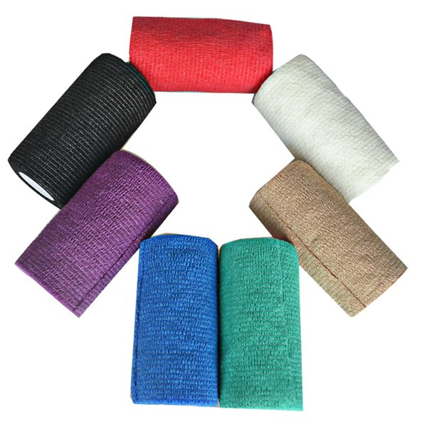 1pcs 10cm Self Adhesive Non Woven Elastic Cohesive Bandage Wrap Tape High Quality Sports Protection Nail Polish Remover Colorful