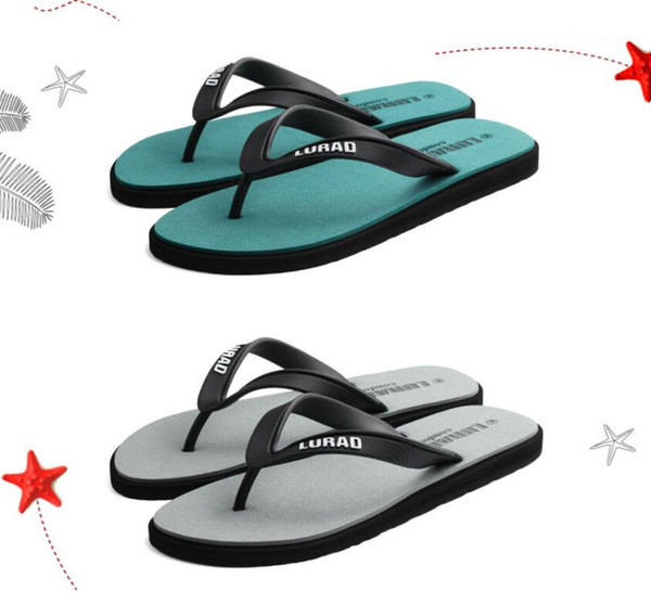 Summer mens slippers 2019 new flip-flops male leisure leather slippers sandals fashion personality summer beach shoes