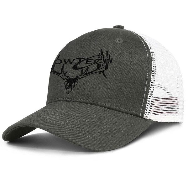 Womens Mens Plain Adjustable Bowtech Buck Style Logo Hip-Hop Cotton Hunting Cap Summer Hats Cadet Army Caps Airy Mesh Hats For Men Women Bla