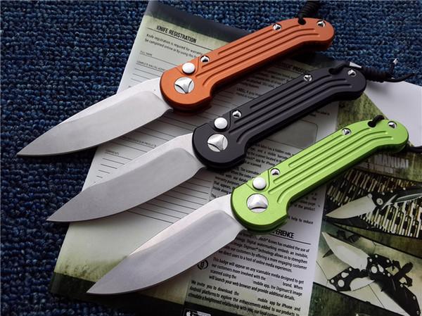 "Elmax L-underwater Demolition TEAM Folding Knife Single Fine Blade Black Orange Green Handle Tactical Gift knives 4.59"" Closed F0186Q F"