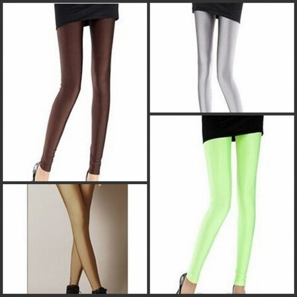 2019 Brand Solid candy colors Leggings High Stretched Fitness Plus Size Ballet Dancing Pants High-elastic Pencil Pants