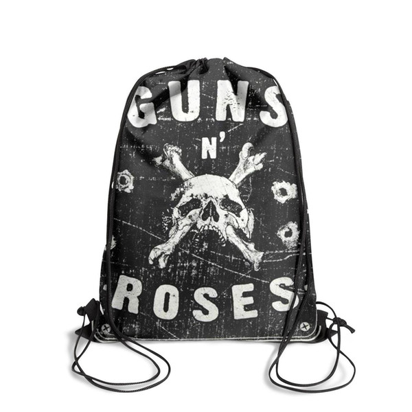 Sports backpack Guns N' Roses Roses Street Signs outdoor vintage Classicpackage durable yoga backpack gym sack pouch pull string Backpack
