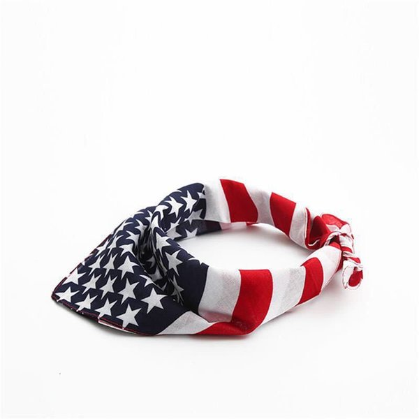 top popular Ceative American Flag Pet Dog Bandana Washable Reversible Square Neck Head Scarf for Medium Large Dogs and Cats Pet Supplies 2020