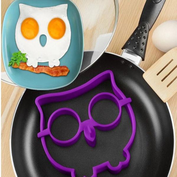 Narin Yumurta Kalıp Pişirme Aracı Silikon Baykuş Kızarmış Yumurta Araçları Halka Şekillendirici Yenilik Kafatası Eğlenceli Yumurta Kızarmış ...