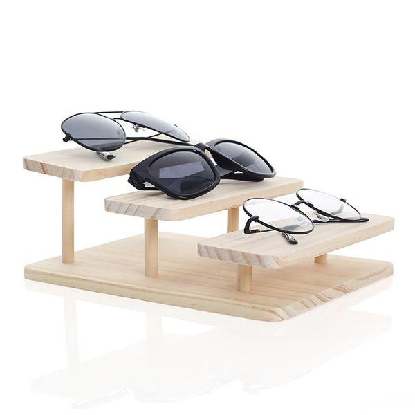 Новое прибытие Assembleable 1-5 слоев Опции бамбуковые Солнцезащитные очки Стенд очки Дисплей ювелирных изделий держатель браслет часы Показать продукт