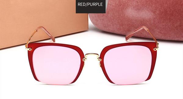 Cornice rossa viola specchio