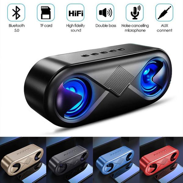 Drahtloser beweglicher Bluetooth Lautsprecher der Qualitäts S6 führte Subwoofer 4D HIFI Stereobasslautsprecher Tischplatten-PC-Resonanzkörper USB mp3 Musikspalte