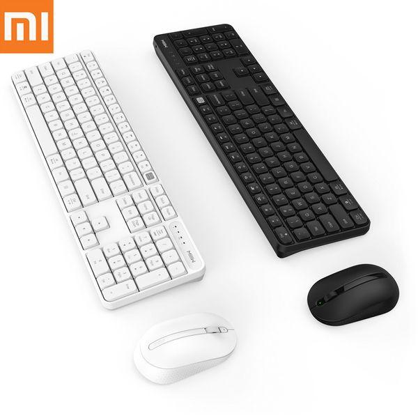 Teclado Xiaomi MIIIW Wireless Mouse Set 104 Chaves Escritório Windows / Sistema Mac Uma Chave interruptor de 2.4GHz IPX4 Waterproof Keyboard