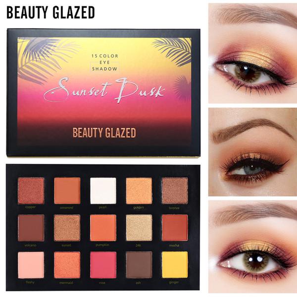 BEAUTY GLAZED 15 Color Paleta de Sombras Maquiagem de longa duração Sombra de Olhos Fosco Fácil de Usar Paleta de Maquiagem