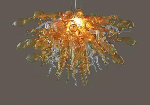 Décoration de mariage Moderne Éclairage LED Lustre Dale Chihuly Style Pas Cher Prix 100% Bouche Soufflé En Borosilicate Plafonniers