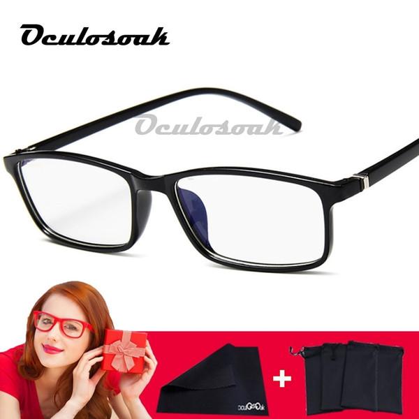 2019 Women Glasses Frame Men Anti Blue Light Eyeglasses Frame Vintage Square Clear Lens Glasses Optical Spectacle Frame