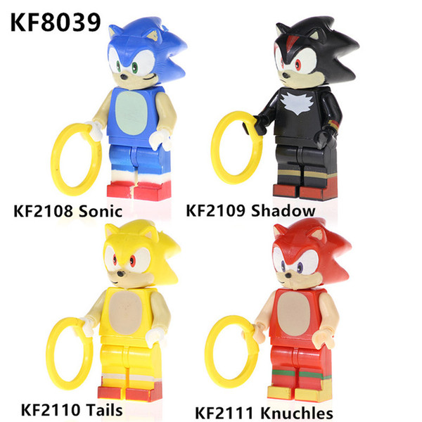 KF8039 Knuchles Accessoires avec bague Sonic Adventure Model jeu pour chirdren Toys meilleur cadeau