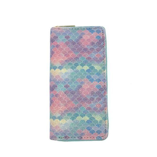 Fashion Zipper Women Purses Colorful Rainbow Lady Long Wallets Coin Purse Clutch PU Leather Wallet Card Holder Money Clip Bag BC BH1627