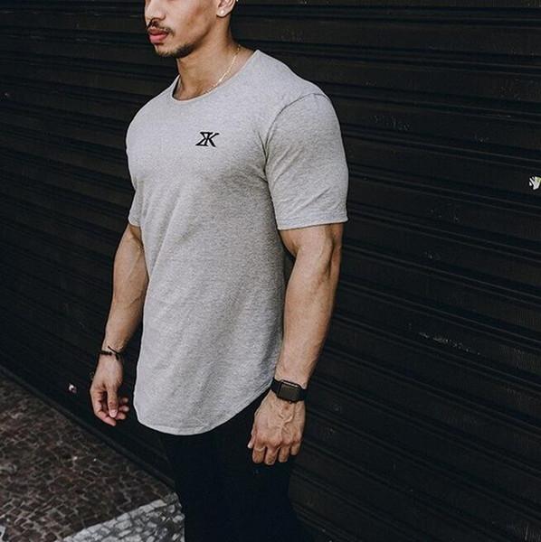 2019 gym new Fashion Summer Uomo Sport, Fitness, Running Training e Leisure maniche corte in Europa e in America T-shirt da ginnastica
