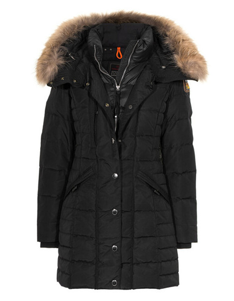 2020 p women down parka new thick warm and windproof waterproof long ection lim olid dori down jacket female winter, Black