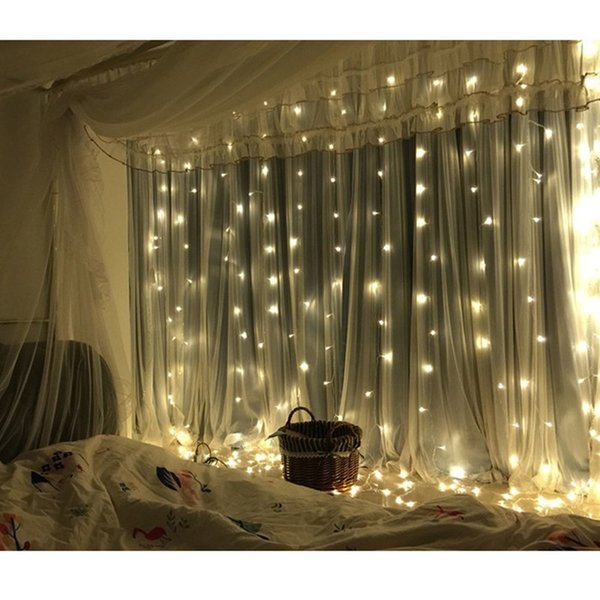 2M/3M/6M 200/300/600 LEDs Fairy Garland String Light Window Curtain Icicle Light Wedding Christmas Garden Indoor Drop Decoration