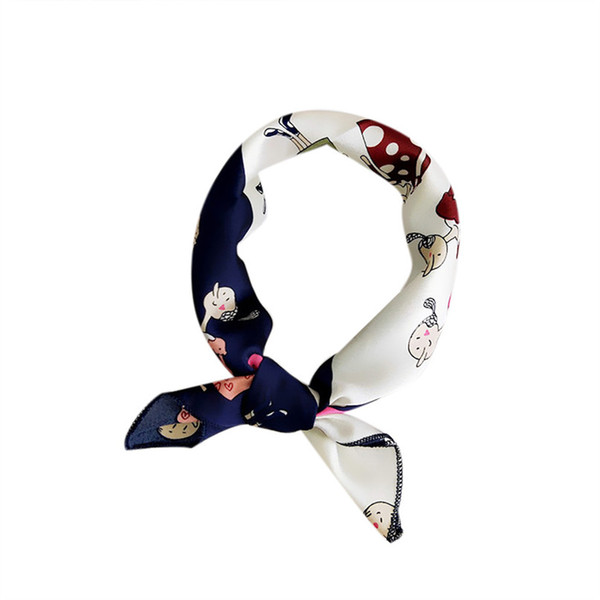 Sports Bandana Women Square Head Scarf Wraps Scarves Printed Kerchief Neck Scarf Yoga Headband 50X50CM Chiffon Riding Face Mask