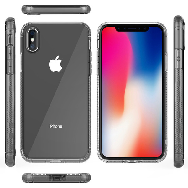 iPhone case iphone X mobile phone case with transparent silicone soft shell creative protective cover against falling and dust with package
