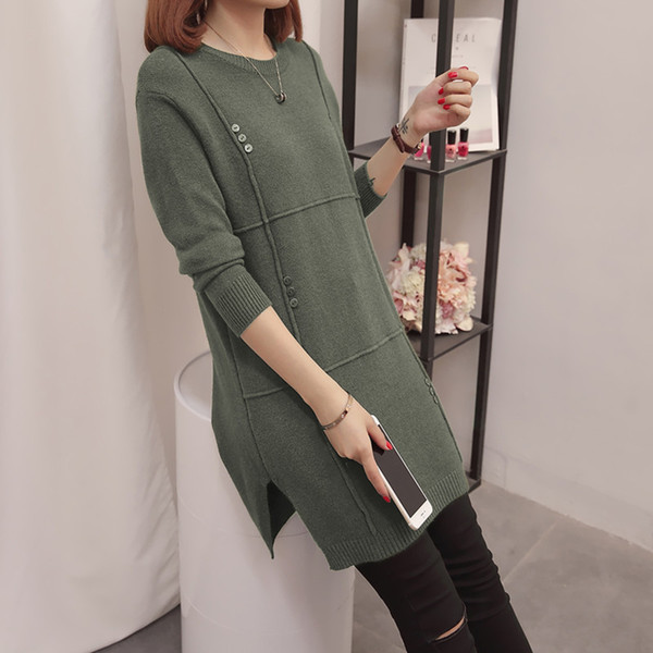 Ucuz toptan 2019 yeni sonbahar kış Sıcak satış kadın moda rahat sıcak güzel Triko FP288