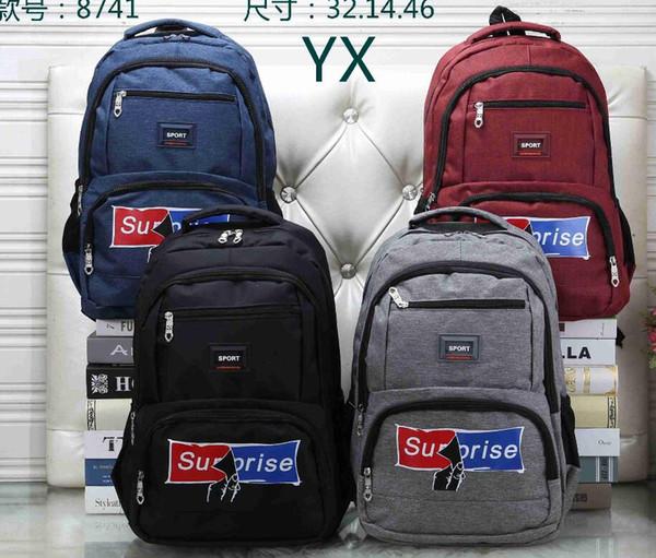 C-001 New arrived Fashion women Men letter backpack Canvas school bag unisex backpack student bag female travel bags