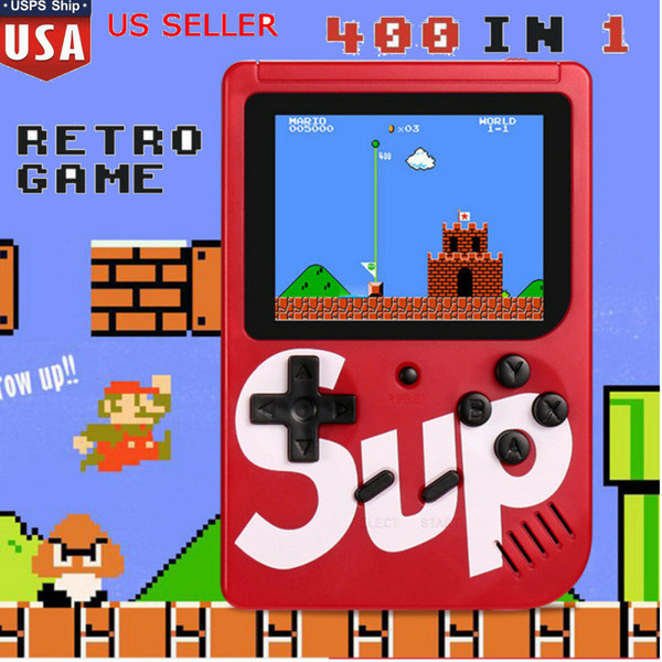 Red SUP games Console Mini Handheld Game Box Portable Classic video game player 3.0 Inch Color Display 400 games AV-out