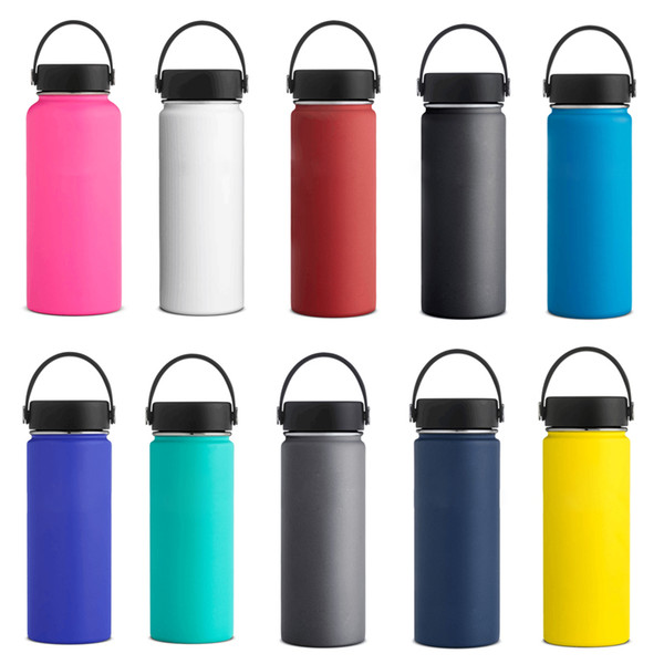 b1347ea6270 doubled walled travel mugs Promo Codes - Vacuum Insulated Water Bottles  18oz 32oz 40oz Stainless Steel
