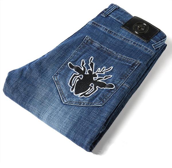2019 Nouveaux jeans haut de gamme pour hommes, véritables haut de gamme, jeans de renforcement du corps, pur coton, printemps été et automne, marque jeans taille 29-40